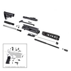 "AR 7.62X39 16"" RIFLE BUILD KIT W/ 10"" QUAD RAIL HANDGUARD BCG LPK & STOCK KIT"