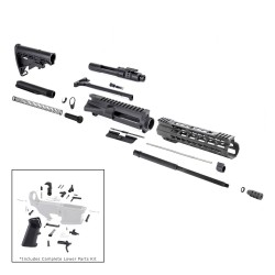"AR 7.62X39 16"" RIFLE BUILD KIT W/ 10"" KEYMOD HANDGUARD BCG LPK & STOCK KIT"