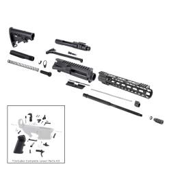"AR 7.62X39 16"" RIFLE BUILD KIT W/ 12"" KEYMOD HANDGUARD BCG LPK & STOCK KIT"