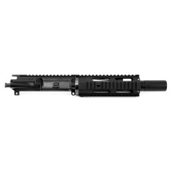 "AR300 BLACKOUT 7.5"" PISTOL LENGTH 1:7 TWIST W/ 7"" FREE FLOAT QUAD RAIL - UPPER ASSEMBLY (FAKE SUPPRESSOR)"