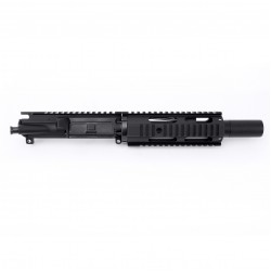"AR 7.62X39 7.5"" PISTOL LENGTH 1:9.5 TWIST W/7"" FREE FLOAT QUAD RAIL  - UPPER ASSEMBLY (FAKE SUPPRESSOR)"