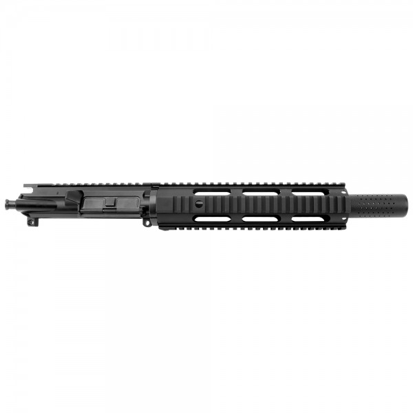 "AR 9MM 10.5"" PISTOL LENGTH 1:10 TWIST W/ 10"" FREE FLOAT QUAD RAIL - UPPER ASSEMBLY (FAKE SUPPRESSOR)"