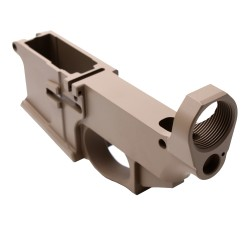 AR-15 Billet 80% Lower Receiver Cerakoted - FDE