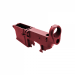 AR-15 80% Lower Receiver Red Anodized (Made in USA)