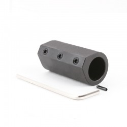 .625 Low Profile Steel Long Styled Custom Gas Block with Roll Pins and Wrench