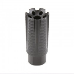 """AR-15 Low Concussion Muzzle Brake Compensator for  1/2""""x28 Pitch TPI Knurled -6 ports"""