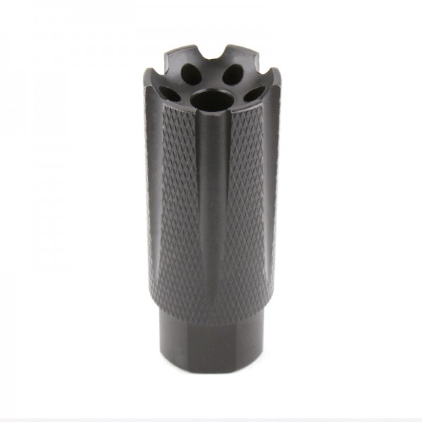"""AR-15 Low Concussion Muzzle Brake Compensator for 1/2""""x28 Pitch TPI Knurled - 6 ports"""