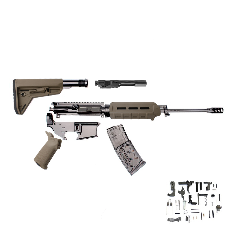 Ar 15 16 5 56 Nato 1 9 Rifle Kit W Magpul Furniture Lpk 80 Lower And Free 10 Rounds Magazine
