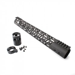 "AR-10 .308 Custom USA Made  M-Lok Super Slim Light 15"" Free Float Handguard w/Steel Barrel Nut (MADE IN USA)"