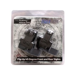 Flip Up Sights 45 Degree Mounts - Black - Packaged