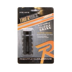"AR-15 ""Pineapple"" Muzzle Brake 1/2""x28 thread pitch- Packaged"