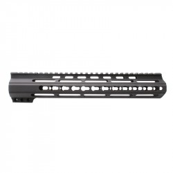 "AR15 12"" Custom Made In USA Super Slim Light Keymod Free Float Handguard  -BLACK- (MADE IN USA)"