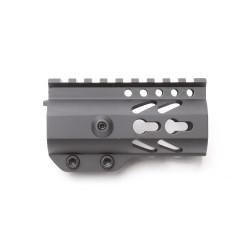 "AR-15 Keymod 4"" Super Slim Light Free Float Handguard with 2""+2"" Keymod Rails (Package)"