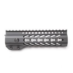 "AR-15 Keymod 7"" Super Slim Light Keymod Free Float Handguard with 2""+3"" Keymod Rails (Package)"