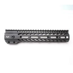 "AR-15 M-LOK 10"" Super Slim Free Float Handguard with 2"" & 3"" M-LOK Rails (Package)"