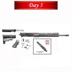 "Day 5: AR-15 Rifle Build Kit with LPK  & 12"" Super Slim Light Keymod Quad Rail FREE BCG"