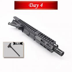 "Day 4: AR 9mm 4.5"" Pistol Barrel w/ USA Made 3.75"" Super Slim Handguard Upper Build (Free Charging Handle)"