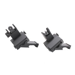 Flip Up 45 Degree Front and Rear Sight Two Piece Design - Black