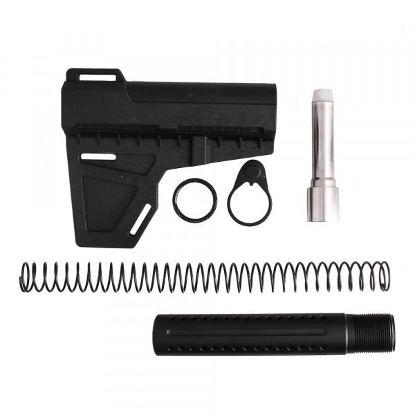 AR-9mm Shockwave Blade with Custom Pistol Buffer Tube Kit w/ 7 oz Buffer (SW, T-P4, N, P, S, B9MM-7)