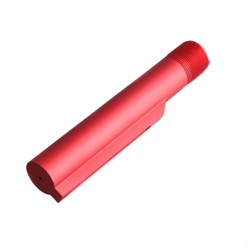 AR-15 Mil-Spec 6-Position Buffer Tube - Red