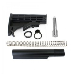 AR-9mm Mil-Spec 6-Position Collapsible Stock Kit w/ 7 Stainless Buffer