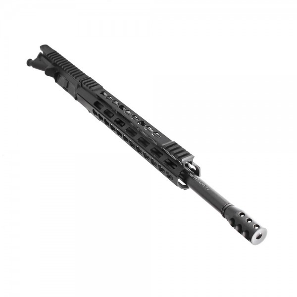 "AR .300 Blackout 16"" Pistol Length Barrel, 12"" Super Slim Keymod/Picatinny Rail, Complete Upper (BR3168-P, 223UP, ARFA, DC223, GTP, MBR38, TL308, GB01-B, FSSK12)"