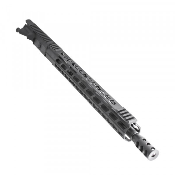 "AR .300 Blackout 16"" Pistol Length Barrel, 15"" Super Slim Keymod/Picatinny Rail, Complete Upper (BR3168-P, 223UP, ARFA, DC223, GTP, MBR38, TL308, GB01-B, FSSK15)"