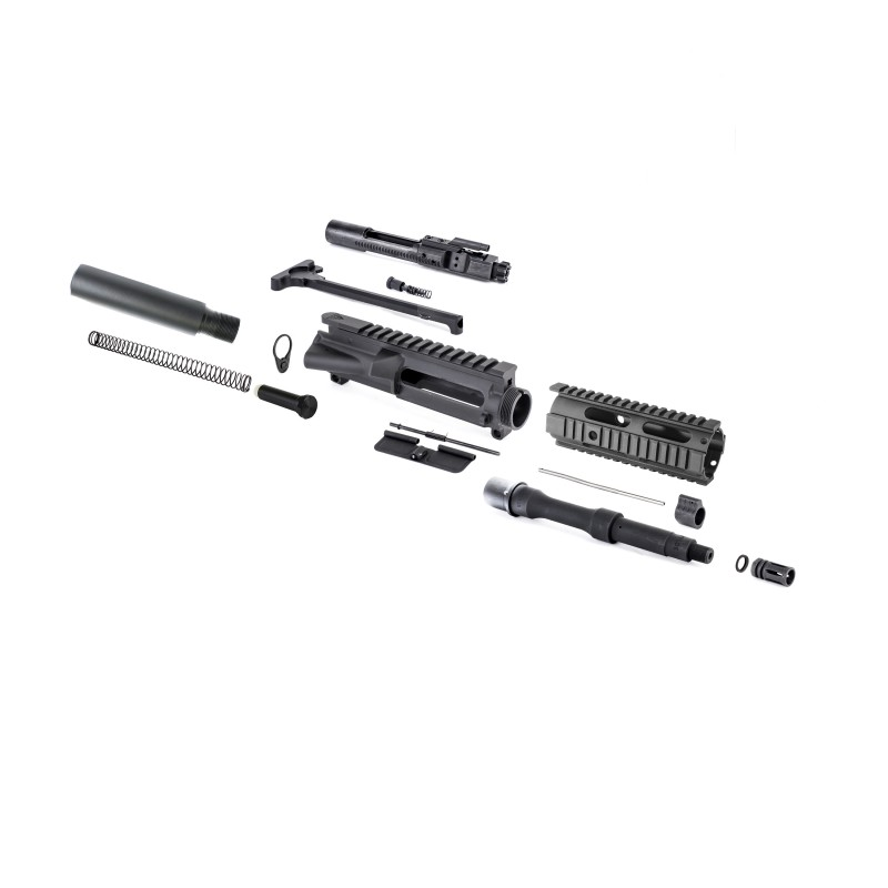 "R-15 Pistol Kit W/ 7"" Free Float Quad Rail"
