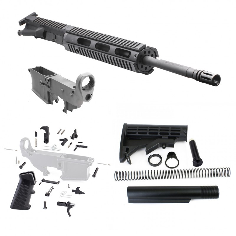 Ar 15 Rifle Build Kit W 10 Quot Free Float Quad Rail Incl 80