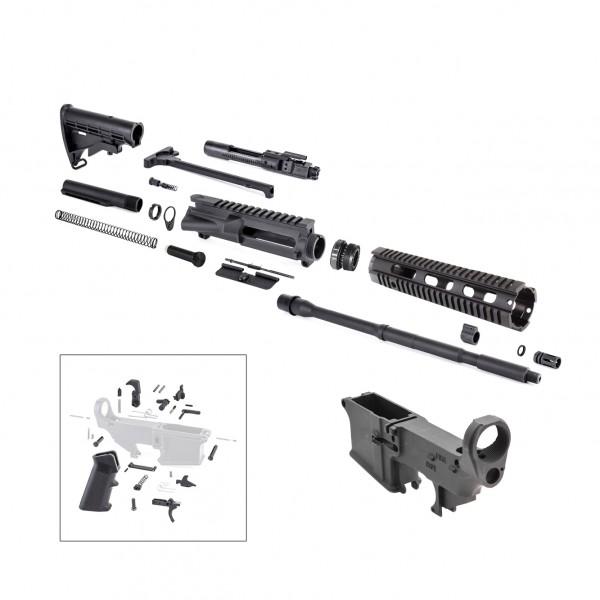 AR-15 Rifle Kit with LPK (BCG, 223UP, ARFA, DC223, CH223, FAR-10, GB01-B, GTC, MBR05, TL223, BR167-P, ST003M, ST007M, LPK-17, 223LOWER)