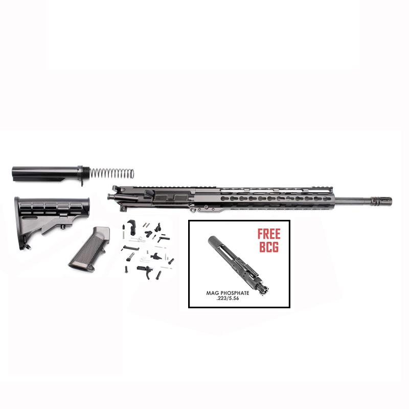 "AR-15 Rifle Build Kit With LPK & 12"" Super Slim Light"