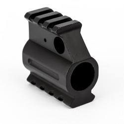 Dual Picatinny Rail Gas Block .750 - Black