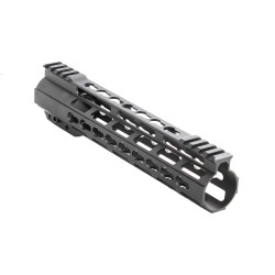 "AR-15 10"" Mid Length Free Float Super Slim Hybrid Picatinny/Keymod Handguard Rail"