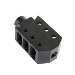 "Barrett Style ""Tanker"" Muzzle Brake for AR-10, .308 - Black"