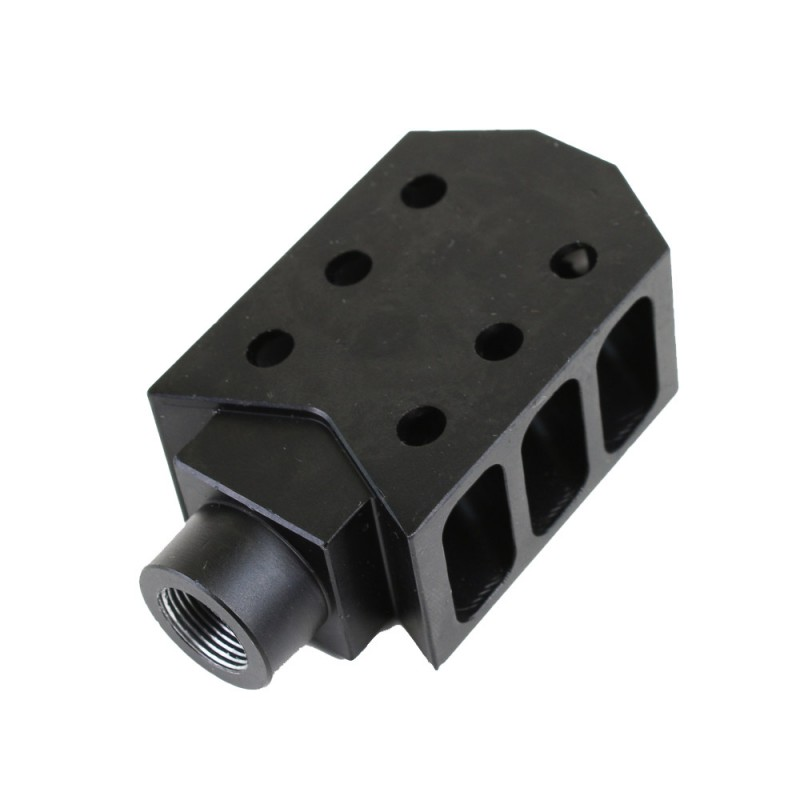 Barrett Style Quot Tanker Quot Muzzle Brake For Ar 10 308 Black