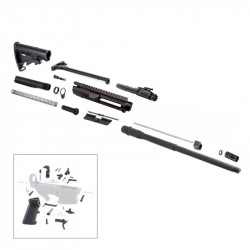 """AR10 .308 Rifle Kit with 18"""" Parkerized Barrel, BCG, Upper and Lower Part Kit"""