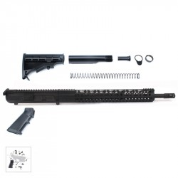 """AR10 .308 Rifle Kit with Complete Upper Build with 18"""" Black Nitride Barrel, BCG, Upper, Lower Part Kit and 15"""" Handguard"""