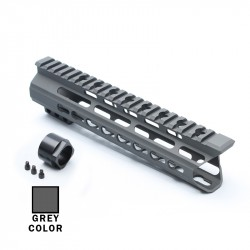 "AR15 9"" Custom Made In USA Super Slim Light Keymod Free Float Handguard  -GREY- (MADE IN USA)"