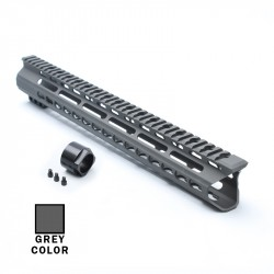 "AR15 15"" Custom Made In USA Super Slim Light Keymod Free Float Handguard  -GREY- (MADE IN USA)"