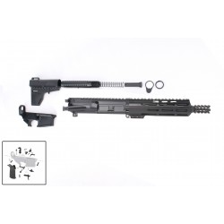 """AR-15 10.5"""" Pistol Build Kit with Custom USA Made Complete Upper Build with Magpul Grip, USA Made 10"""" M-Lok Handguard, BCG and Lower Parts Kit"""