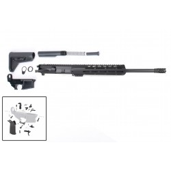 """AR-15 Rifle Build Kit with Complete Upper Build with Magpul Kits, USA Made 10"""" M-Lok Handguard, Upper, 80% Lower and Lower Parts Kit"""