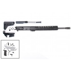 """AR-15 Rifle Build Kit with Complete Upper Build with Magpul Kits, USA Made 12"""" M-Lok Handguard, Upper, 80% Lower and Lower Parts Kit"""