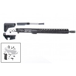 """AR-15 Rifle Build Kit with Complete Upper Build with Magpul Kits, USA Made 15"""" M-Lok Handguard, Upper, 80% Lower and Lower Parts Kit"""