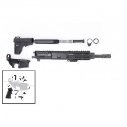 "AR .300 Blackout Pistol Build Kit with 4.5"" M-Lok Custom USA Made Handguard and 7.5"" Pistol Barrel"