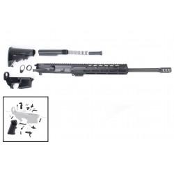 "AR 7.62X39 Rifle Build Kit with 10"" USA Made M-Lok Slim Light Handguard, BCG, LPK and 80% Lower"