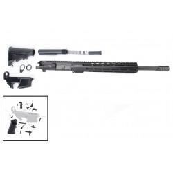 "AR 7.62X39 Rifle Build Kit with 12"" USA Made M-Lok Slim Light Handguard, BCG, LPK and 80% Lower"