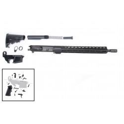 "AR 7.62X39 Rifle Build Kit with 15"" USA Made M-Lok Slim Light Handguard, BCG, LPK and 80% Lower"
