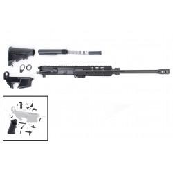 "AR 7.62X39 Rifle Build Kit with 7"" USA Made M-Lok Slim Light Handguard, BCG, LPK and 80% Lower"
