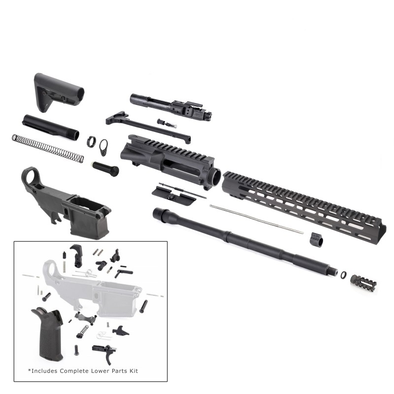 AR-15 Rifle Kit With Complete Upper Build With Magpul Kits