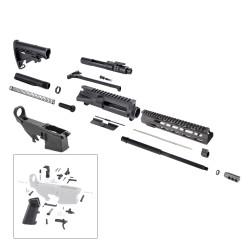 "AR 7.62X39 Rifle Kit with 10"" USA Made M-Lok Slim Light Handguard, BCG, LPK and 80% Lower"